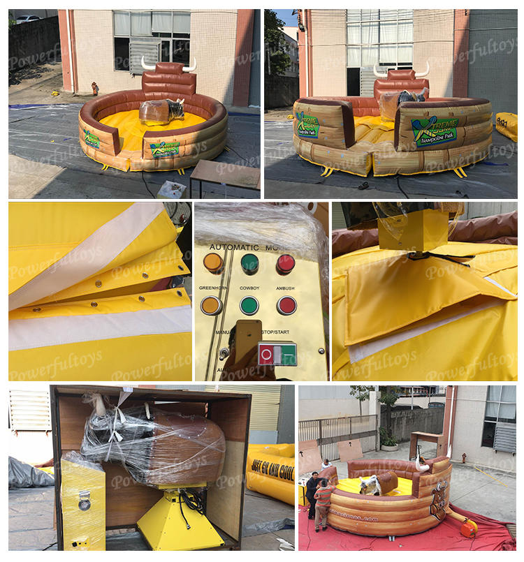 inflatable mechanical bullrodeo music controlal machine