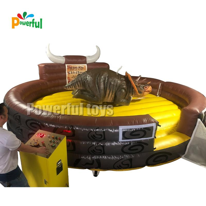 Bucking bronco riding inflatable mechanical rodeo bull sport games