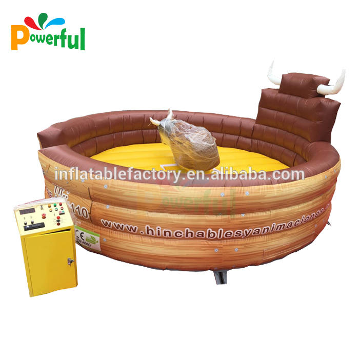Popular sport game inflatable bull riding machine