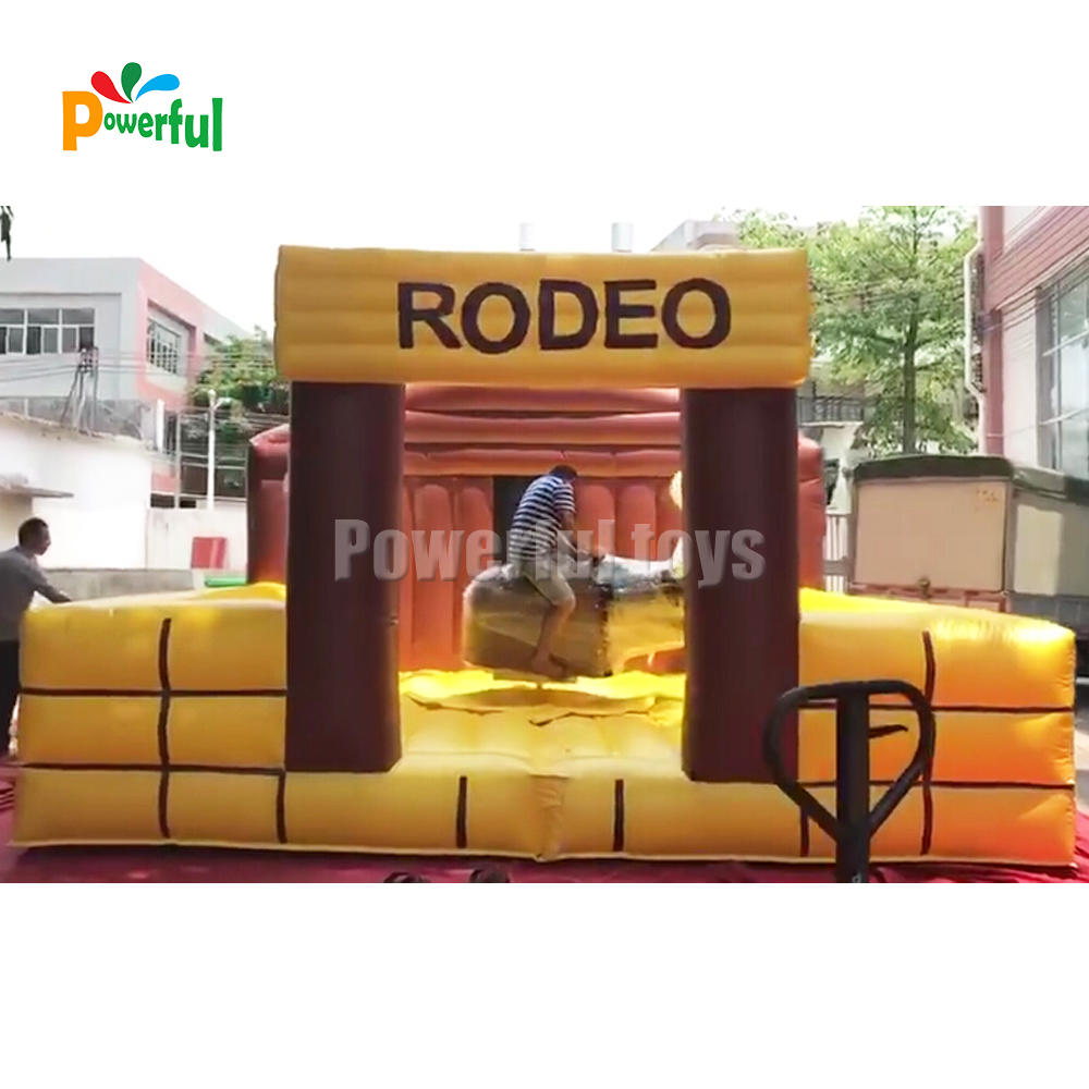 inflatable rodeo bull mechanism for party event