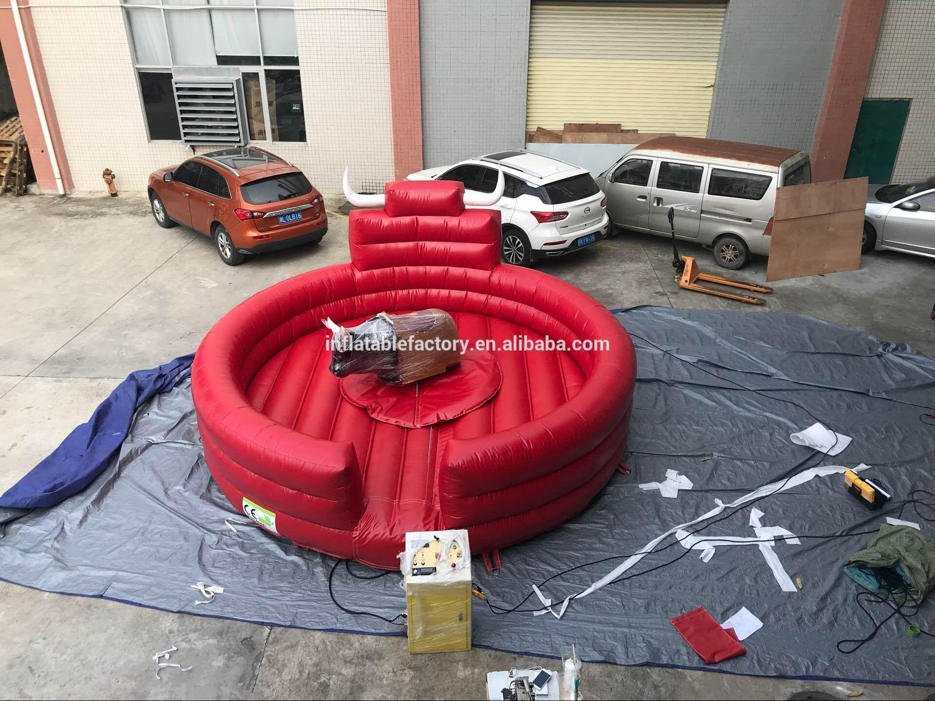 Trampoline park kid game inflatable rodeo mechanical bull riding for sale