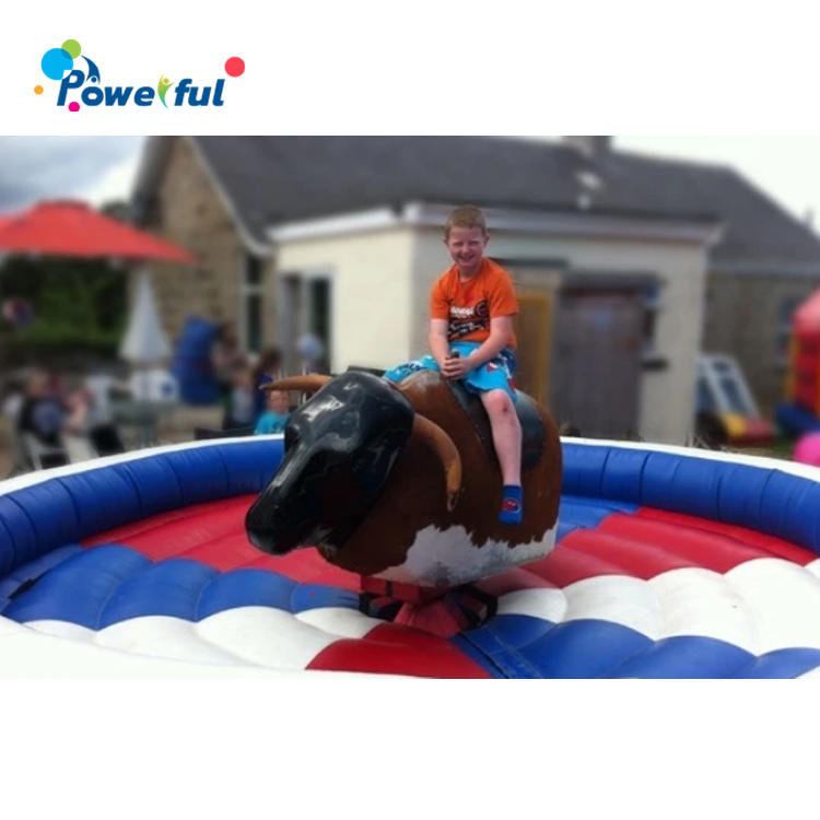 Round bouncy rodeo bucking bull mechanical bull machine riding