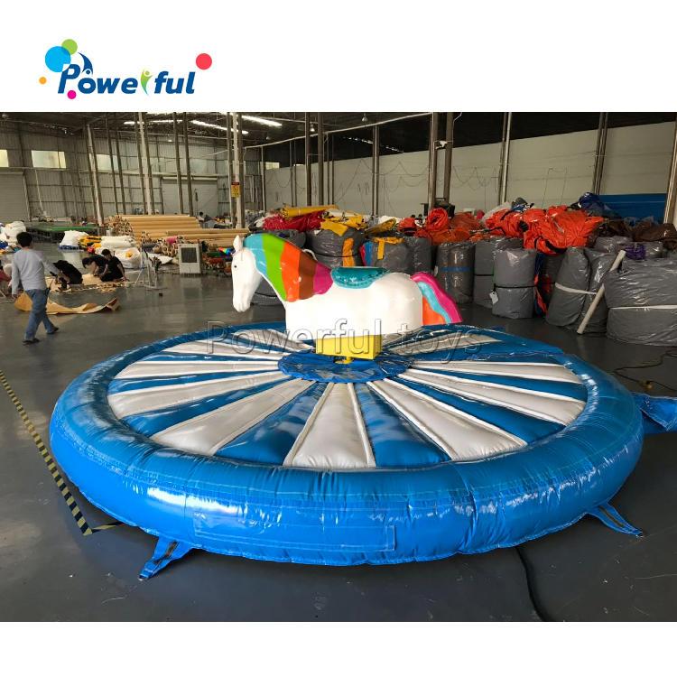 Popular sport game inflatable unicorn riding machine