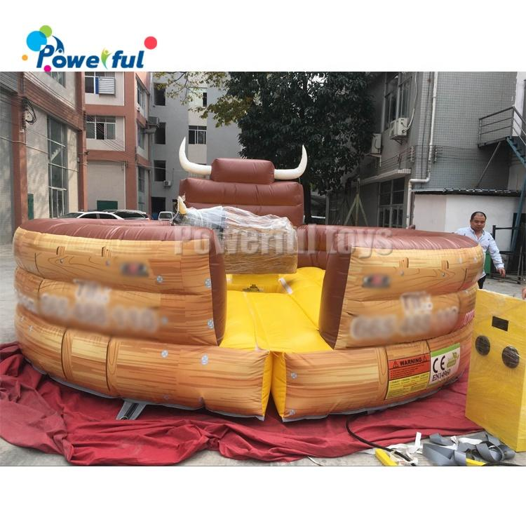 Commercial inflatable mechanical bull customized size bull riding machine for sale