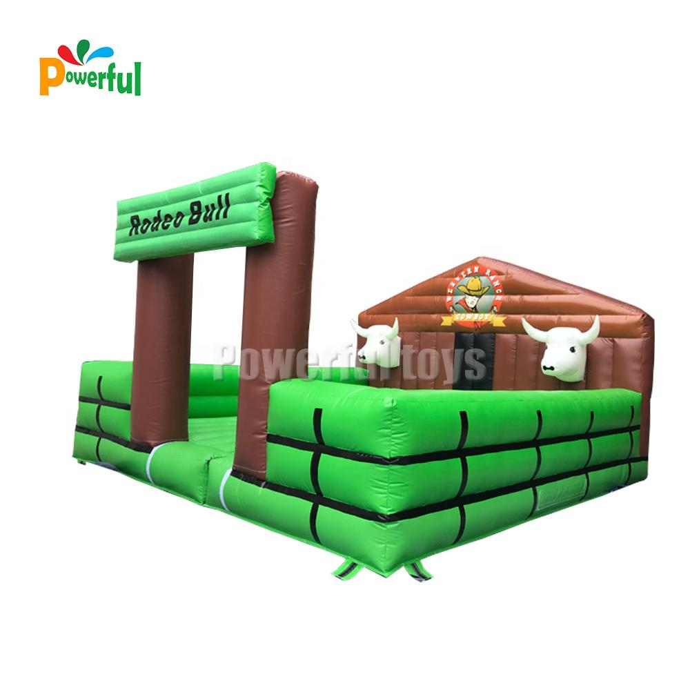 Trampoline park new designed inflatable rodeo bull machine inflatable bull game
