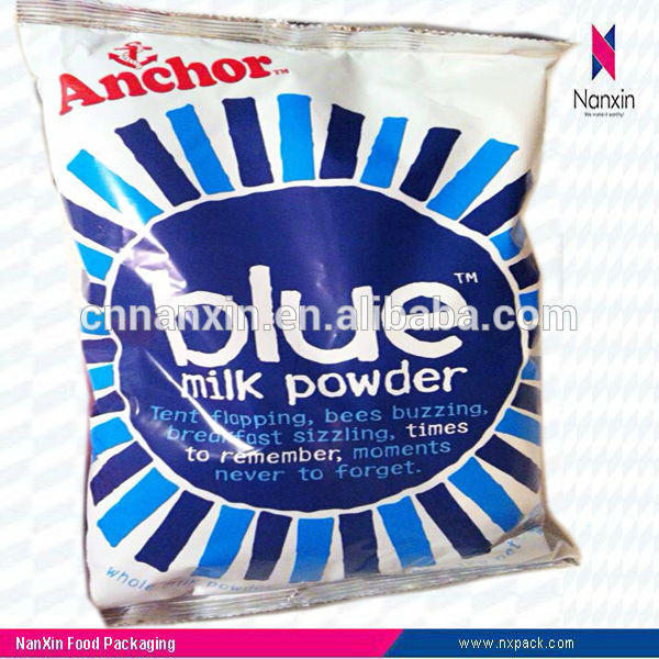 four sealed instant milk powder plastic packaging