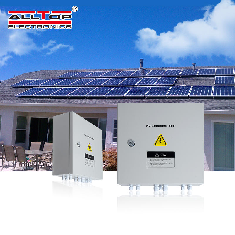 PV off grid solar pv array combiner box for solar power system home
