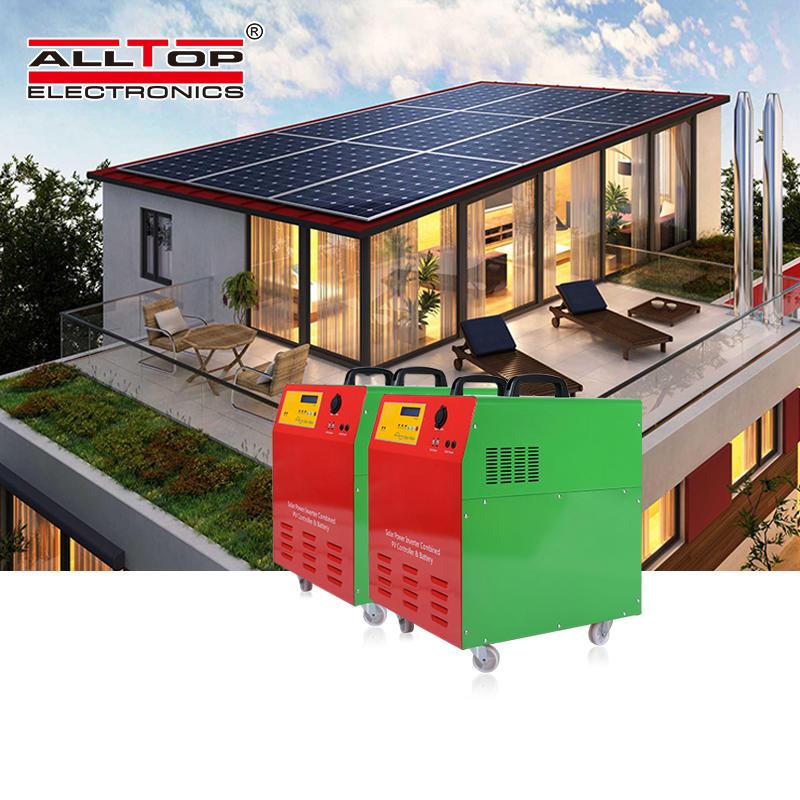 Home off grid solar power microinverter system solar panel system 300w 500w 1kw DC AC solar energy system