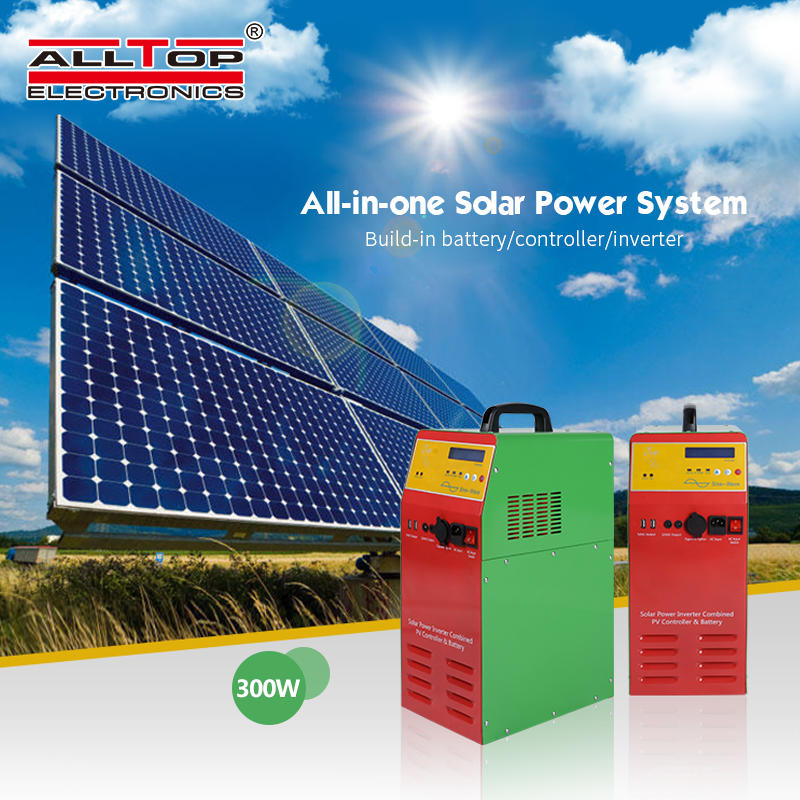 Solar generator system hybrid on-grid solar inverter 300 500 1000 watt pure sine wave power inverter