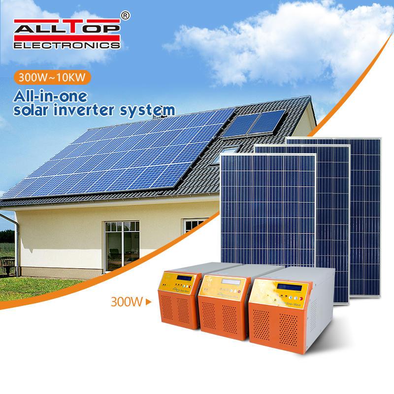 Off grid hybrid solar power home lighting system for Home Use 6KW On Grid Solar energy Inverter