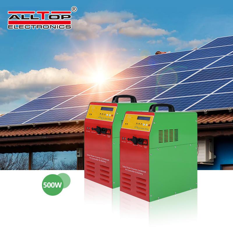 Low price 1000W 24V Off Grid AC solar power generator portable Inverter Home Lighting Power solar power system