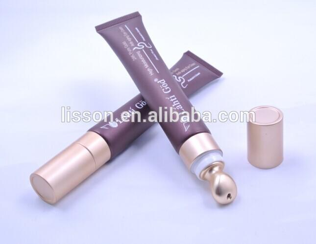 New Type 15ml Cosmetic Tubes with Metal Applicator /Plastic Packing Tubes for Eye Cream and lipstick tube