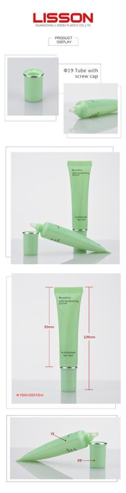 Eye Cream Cosmetic Packaging Tube With Thick Double Layer cylindrical Cap