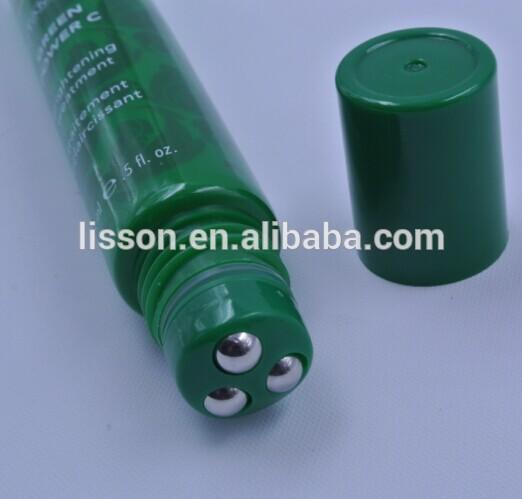 Anti Ageing Plastic Balls Roll on Massage Head eye serum bottle