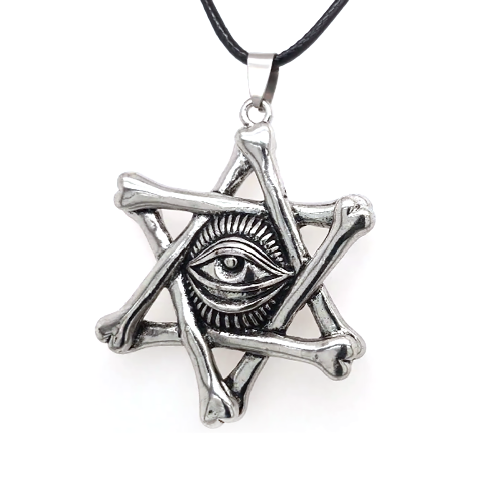 Custom Design All-Seeing Eye Star Of David Pendant Necklace Hiphop Jewelry