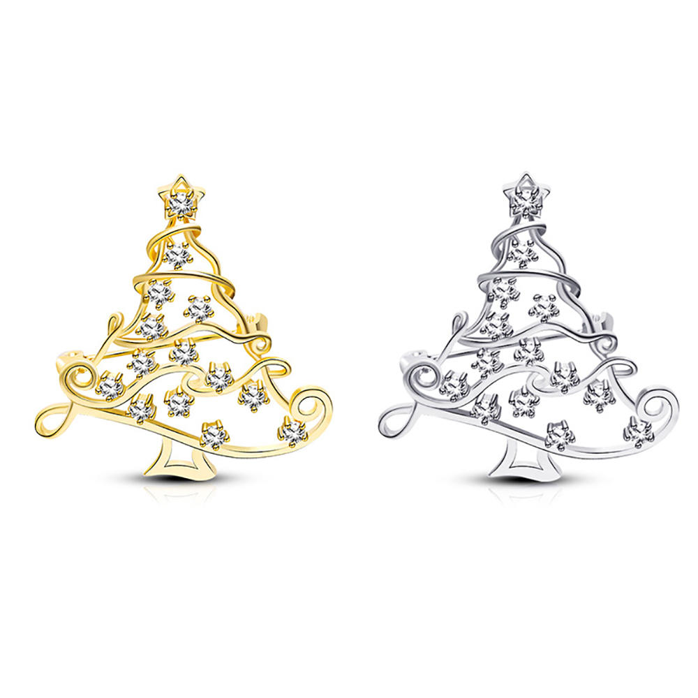 European And American Christmas Tree Wholesale Brooch Party Dinner Dress Accessories