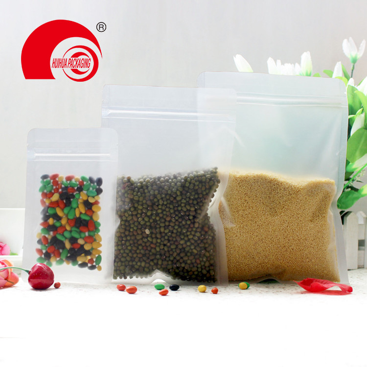 Clear Transparent Resealable Zip lock Heat Sealable Snack Food Storage Packaging Pouches