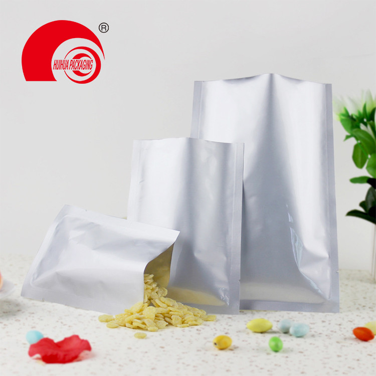 High Quality Plastic Food Grade Glossy Moisture Barrier 3-side Seal Flat Pouch 200g Feed Packaging Bags