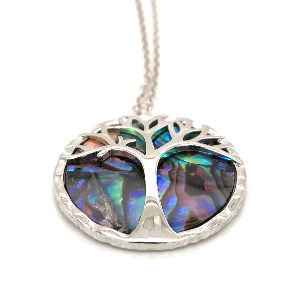 New Design Abalone Shell Necklace Hot Jewelry, Round Tree Of Life Necklace