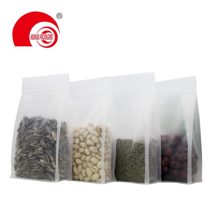 Zipper Top Matt Clear Resealable Plastic Flat Bottom Pouches for Green Cardamom Packaging Bags