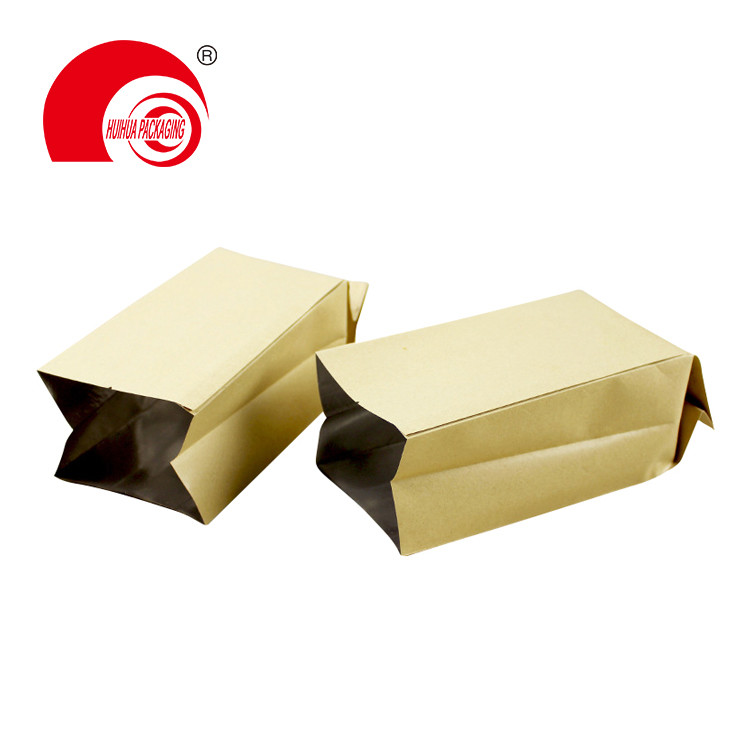 product-Huihua-Stand Up Foil Plastic Custom Zipper Square Block Flat Bottom Side Gusset Bags Zip loc