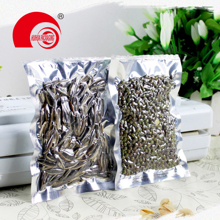Plastic Aluminum Foil Three Side Seal Vacuum Pouches for Dried Fruit Packaging Bag