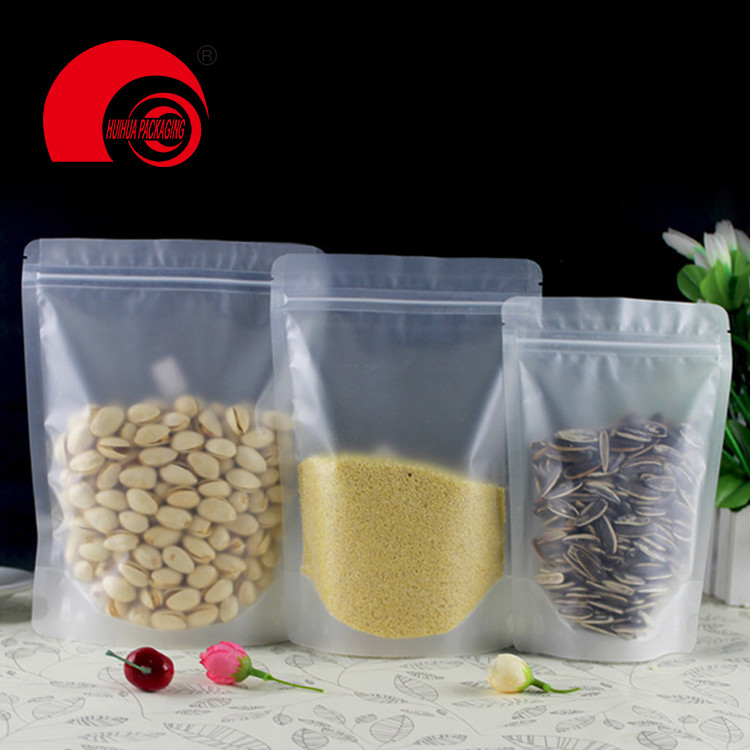 Clear Resealable Moisture Proof Stand Up Pouches with Zipper 150g Spice Packaging Bag