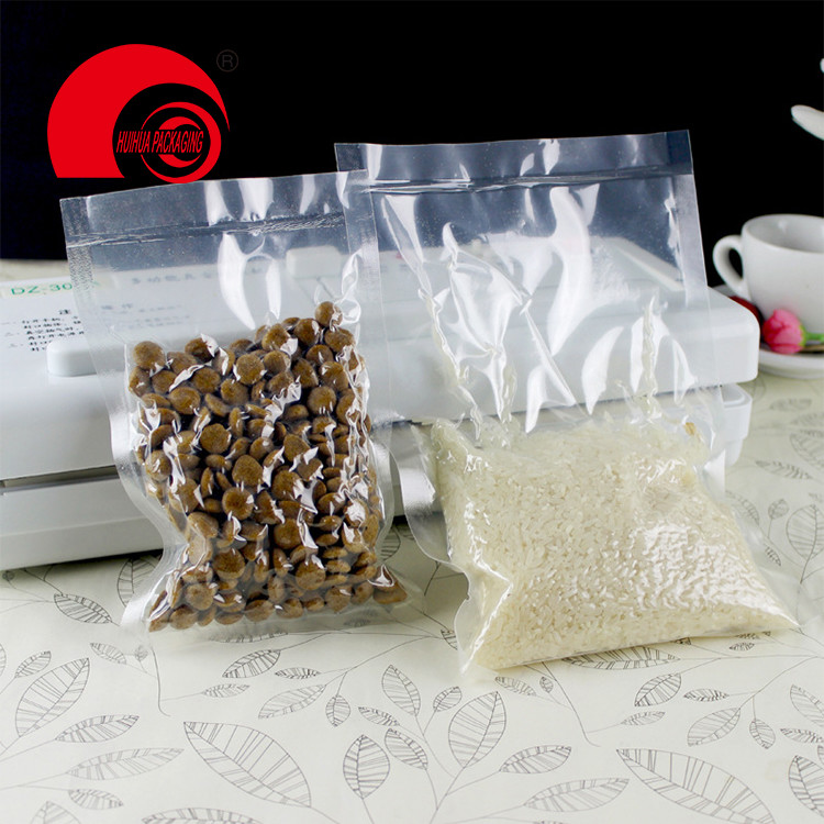 Hot selling clear Plastic Food Grade Glossy MoistureSeal Flat Pouch Barrier 3-side Packaging Bags