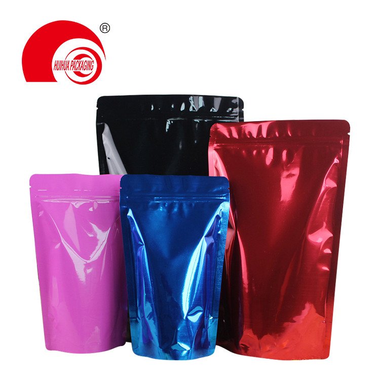 Custom mylar stand up pouch mylar pouches for candy/nuts/chilli pepper/whey protein packaging
