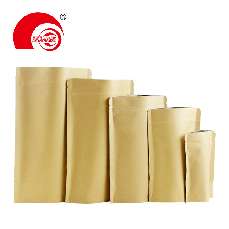 Generic Hot selling kraft paper bags plastic zipper bags for snack food packaging