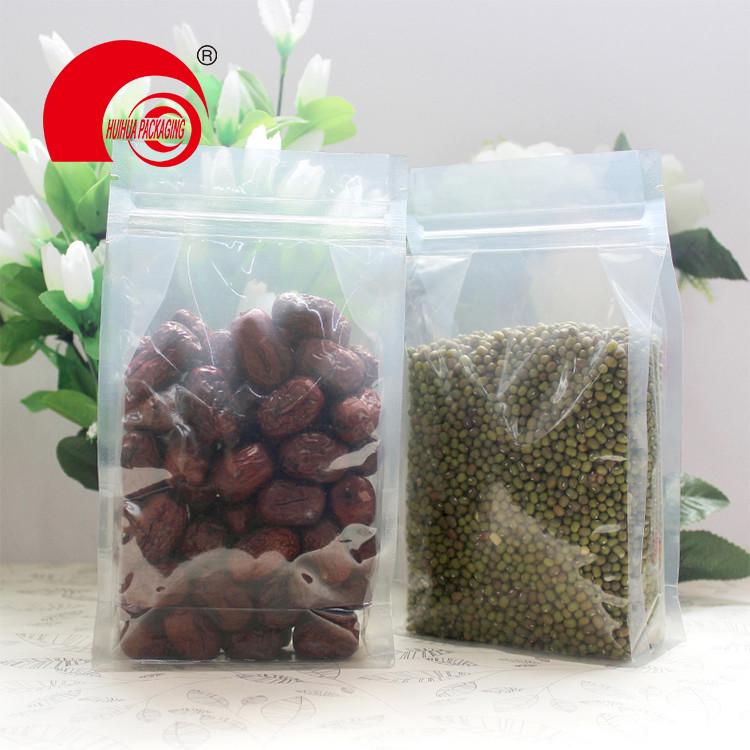packaging plastic vaccum waterproof side gusset heat seal tea clear bag package pouches