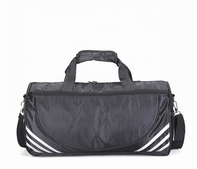High quality travel gym bag waterproof sneaker duffle bag with adjustable shelves for independently shoes