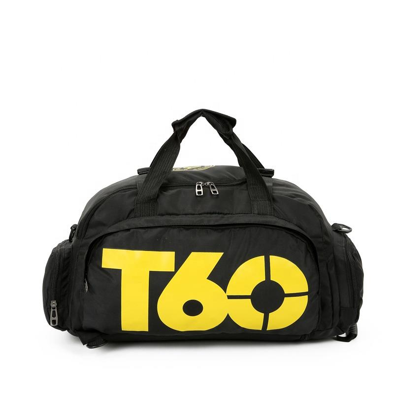 Best fashion design weekend travel bag for man customized sport bag with shoe compartment wholesale gym duffel bag
