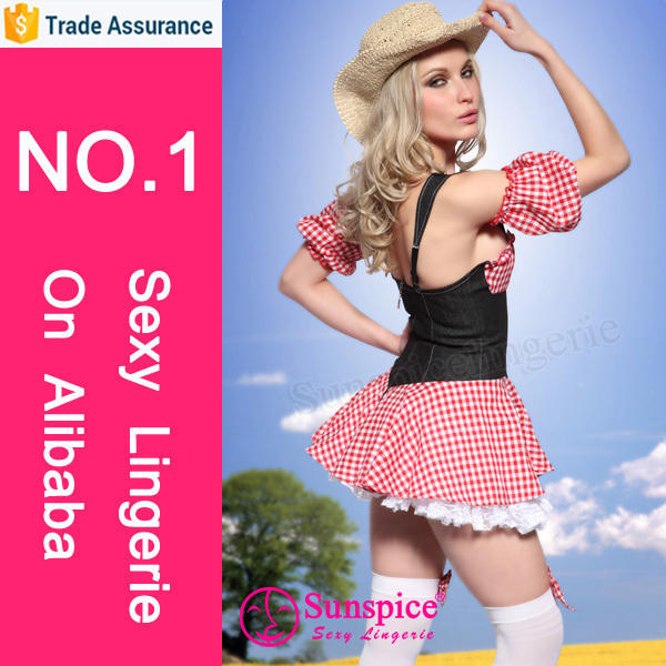 hot selling sexy party dress naughty country girl fancy dress carnival halloween japanese nude cosplay costume