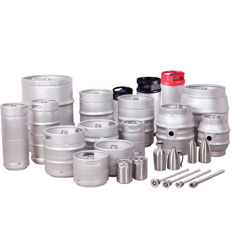 Food Grade AISI 304 20L 30L 50L Stainless Steel Draft Beer Barrel