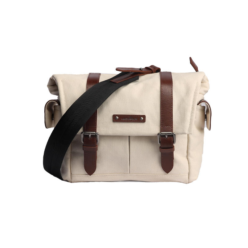 Men Business Messenger Bags For Men Shoulder Bag Canvas Crossbody Pack Retro Casual Office Travel Bag