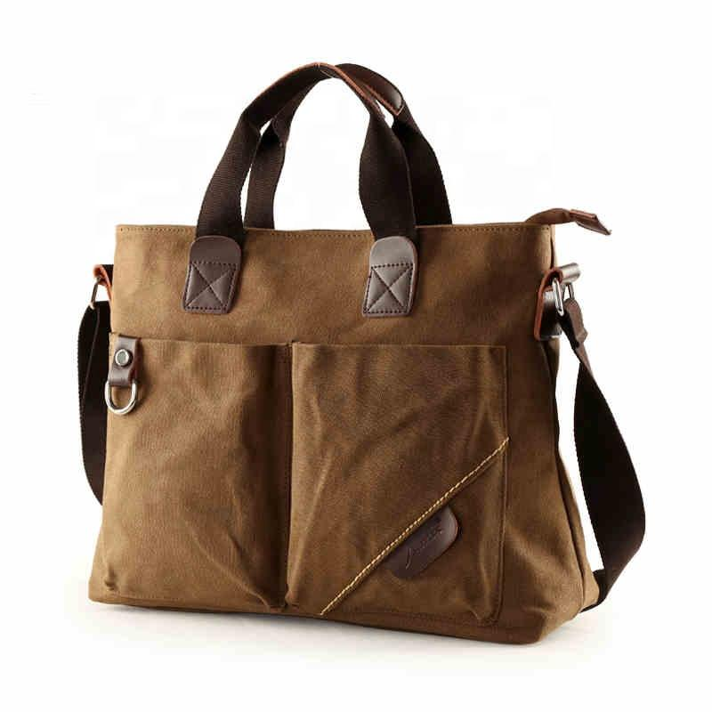 china manufacturer factory direct men shoulder bag custom canvas handbags for men vintage designer large causal briefcase 2020