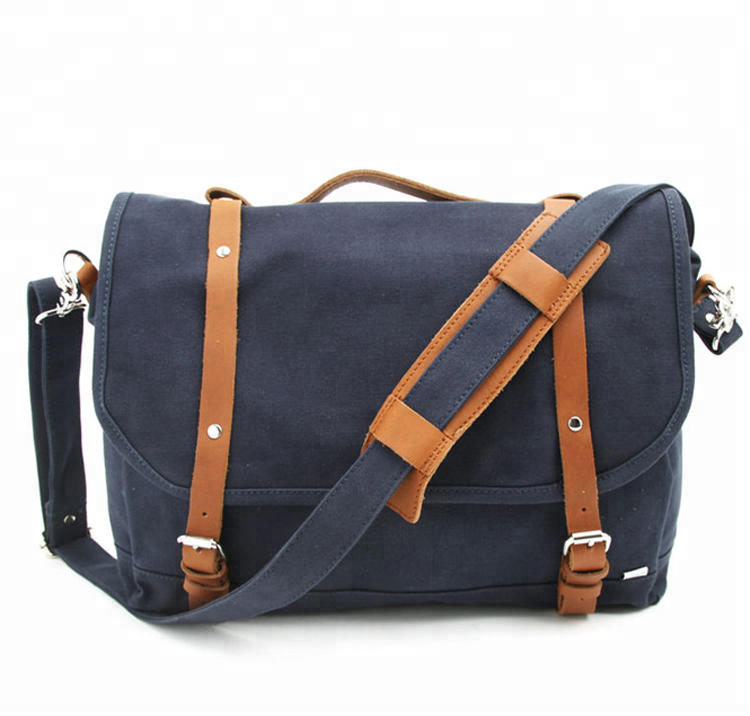 Custom Logo Wholesale Canvas Zipper Pouch men Handbags causal large Classic shoulder bag for men business travel briefcase