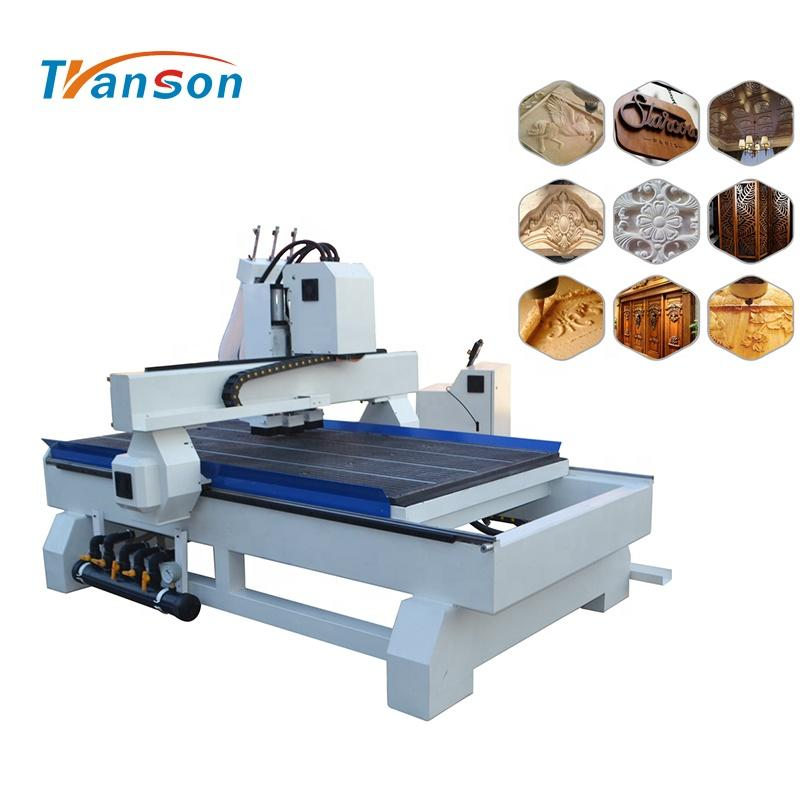 Furniture 3 Heads CNC Router 1325 for Sale
