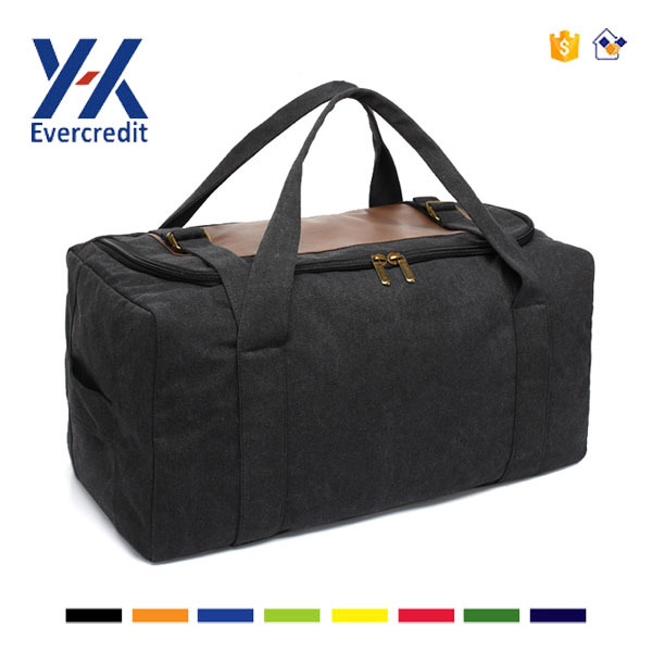 Large Volume Canvas Travel Duffel Bag