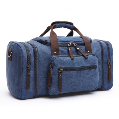 High quality density canvas travel duffle bag tote travel luggage bags with strap