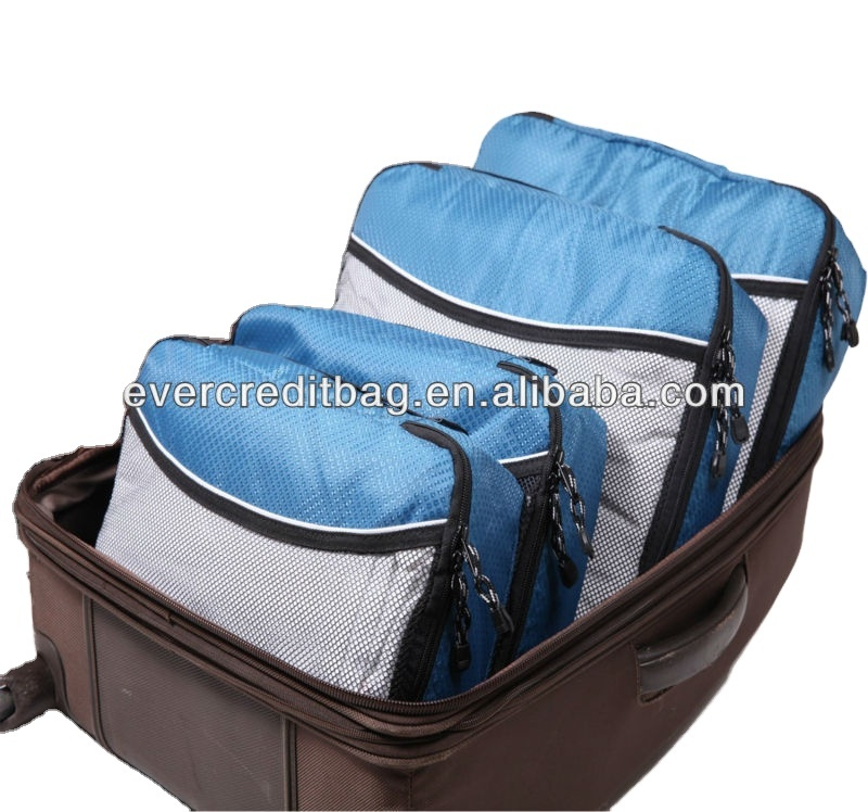 Factory Cheap Luggage organizer bag,High quality 3 pieces Packing Cubes