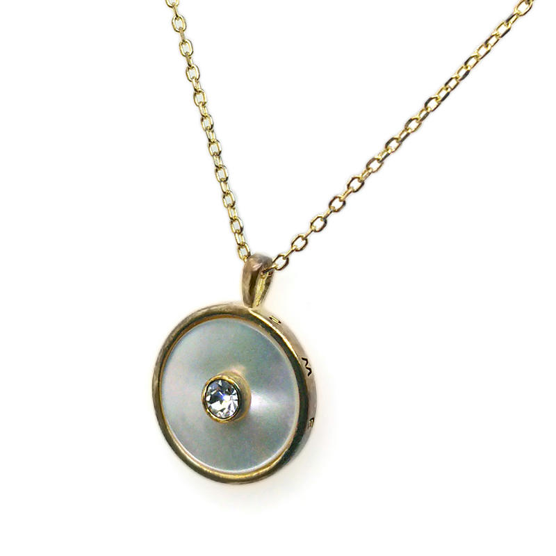 Wholesale Round Shape Silver 925 Disc Necklace Gold Plated Jewelry