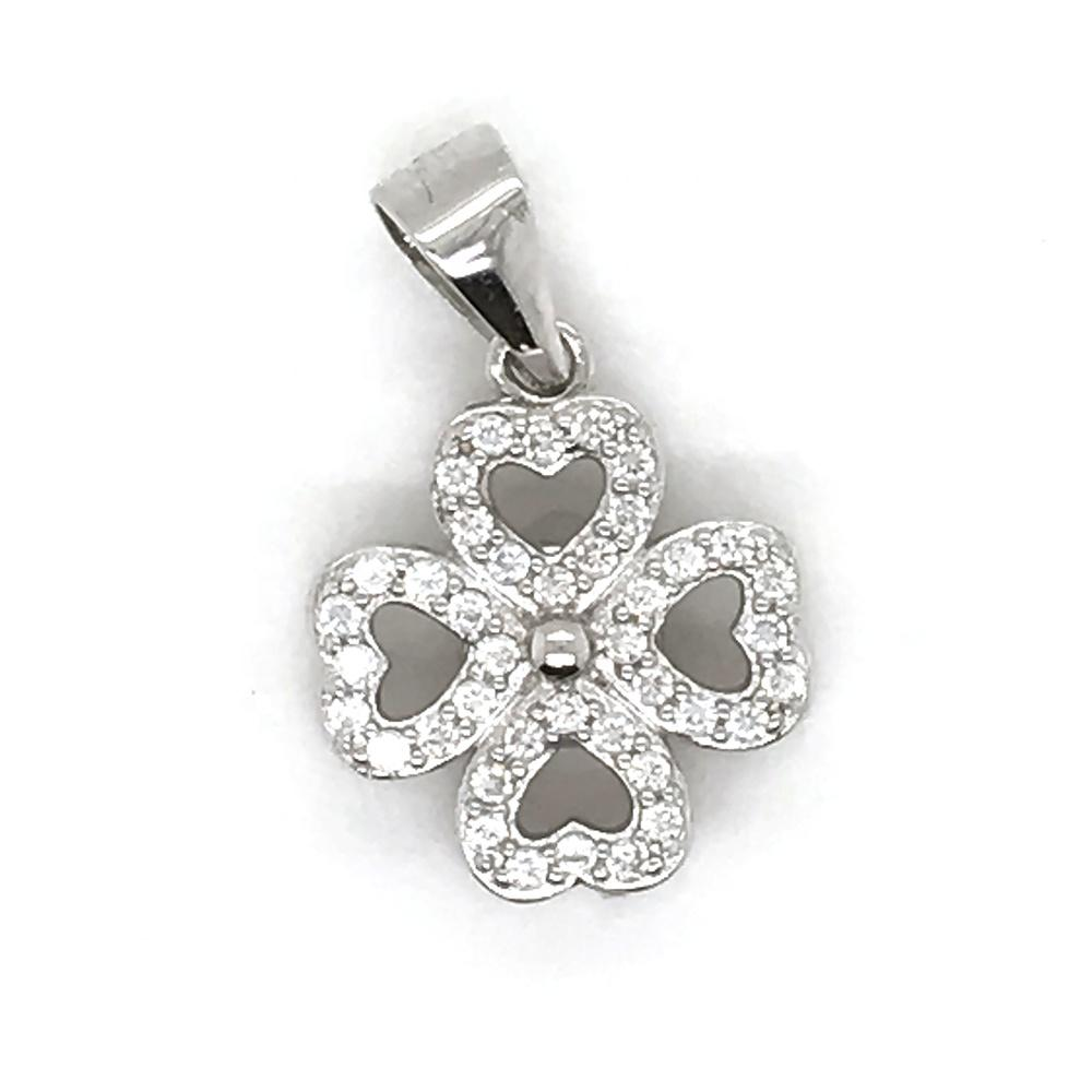 Custom Clover Gold Stainless Steel Necklace, Real Silver Four Leaf Clover Pendant Necklace Images