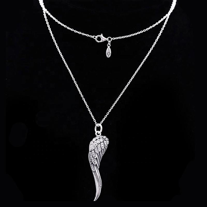 Delicate Wing Shape Design White Gold Necklace Price In Malaysia