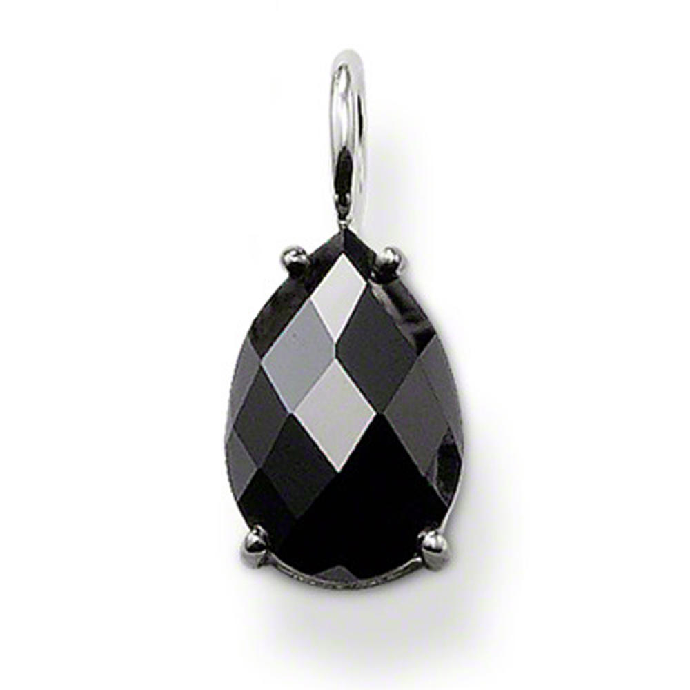 Black Obsidian Water Drop Silver Jewelry Statement Necklaces For Women