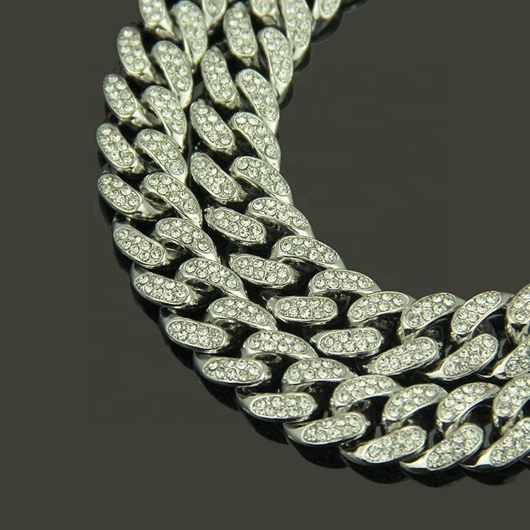 Hiphop Rapper Large Cubic Zirconia Iced Cuban Dripping Initial Necklace