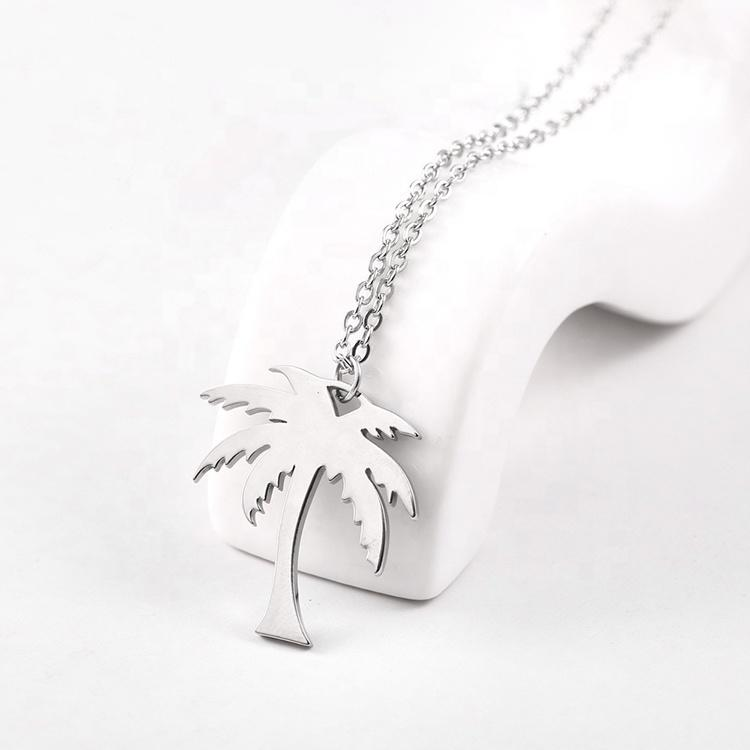 Tree Shape Silver Gold Rose Gold Plated Stainless Steel Necklace Punk