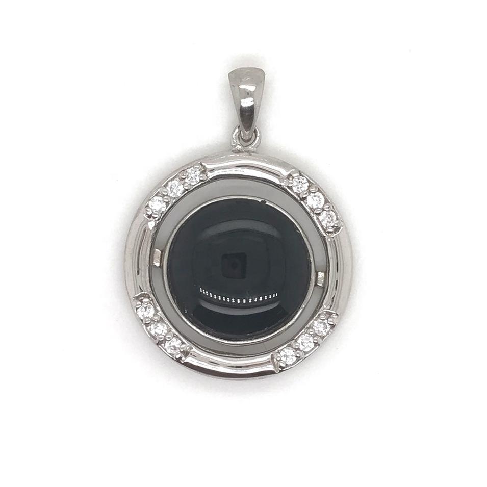 Fashion Silver Round Stone Charm Semi Precious Jewelry