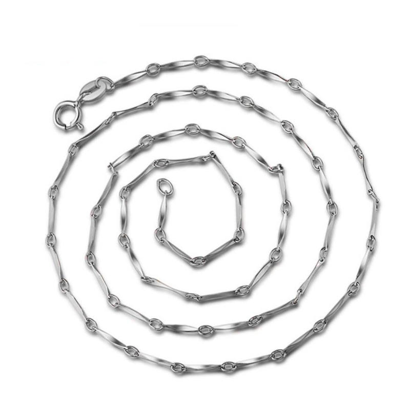 Simple Design Cheap Thick Silver Twisted Singapore Chain Men's Necklace